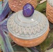 SadeHomeDecor lucky art mavi akik taş kapaklı şekerlik 14 cm (1 adet)-2