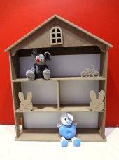 Oyuncak Dolap Bebek Evi Kitaplık Raf Çocuk...