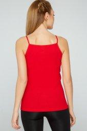 2li Paket Tutku 100 Pamuk Renkli İp Askı Bayan Atlet Kırmızı