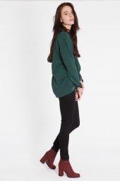 Alya Çizgili Yeşil Sweatshirt 160253 1