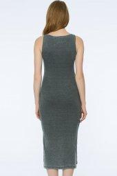 Barı Dress - Önü Dantel Detaylı Gri Elbise | 160009-1-5