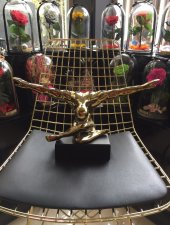 Sadehomedecor Lucky Art Gold Renk Vücut Biblo 42 Cm (1 Adet)