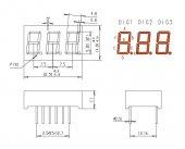 Kpt 3361 Asrnd Üçlü 9,72mm Segment Displey