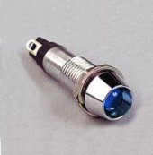 Sinyal Lambası Metal 24 V Ledli 8mm Mavi (Mbs 35876)