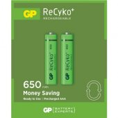 Gp Power 2' Li Recyko 650 Serisi Şarjedilebilir Aaa İnce Pil
