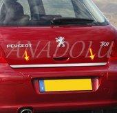 Peugeot 307 Formlu Krom Bagaj Alt Çıtası Paslanmaz Çelik