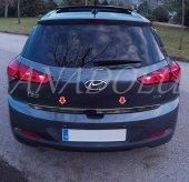 Hyundai İ20 Formlu Krom Bagaj Alt Çıtası 2014 Üzeri