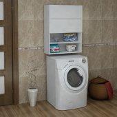 Homs Söğüt Çamaşır Makinesi Dolabı Üst Modül (P.beyaz)