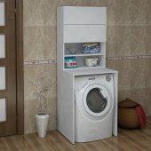 Homs Söğüt Çamaşır Mak. Dol. Alt Üst Modül (P.beyaz)