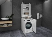 Mobaks Topkapı Çamaşır Makinesi Dolabı Alt Üst Modül Set