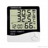 Termometre Sıcaklık Nem Su Derece Ölçer Alarmlı Ma...