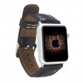 Bouletta Apple Watch Deri Saat Kordon 42 44mm Rst1 Siyah