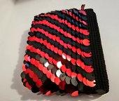 Pullu Clunc Bayan Çanta ( Kırmızı Siyah )-5