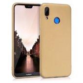 Huawei Y9 2019 Kılıf Ultra Slim Yumuşak Silikon Gold