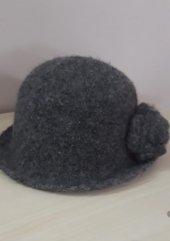 El örgüsü keçe şapka-2