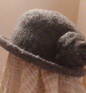 El örgüsü keçe şapka-3