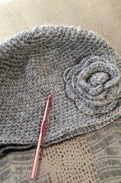 El örgüsü keçe şapka-5