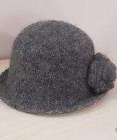 El örgüsü keçe şapka-6
