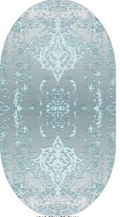 Homex Dijital Saçaklı Oval Paspas 1016 80x150 Cm