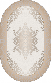 Homex Dijital Saçaklı Oval Paspas 1037 50x80 Cm