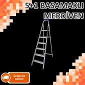 METAL GALVANİZ MERDİVEN 5+1 BASAMAKLI HAFİF DAYANIKLI MALZEME