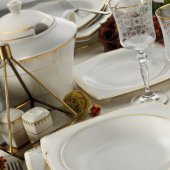 Kütahya Porselen Bone Mare 62 Parça 12 Kişilik Yemek Takımı