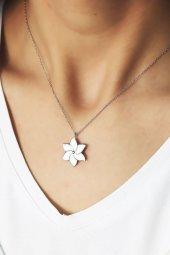 Cigold Beyaz Çiçek Gümüş Kolye Gklyh78965