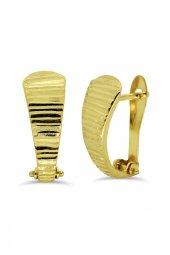 Cigold 14 Ayar Taşsız Küpe K1küp1390000726
