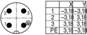 BİNDER  04 LÜ KONNEKTÖR ERKEK Kablo tip 99 4221 00 04 =((CA3 LS))-4
