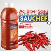Sauchef Hot Chili Sauce (Acı Biber Sosu) 2200gr