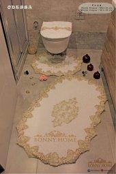 Fransız Dantelli 3lü Banyo Paspası Klozet...