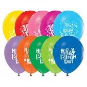 Happy Birthday Baskılı Balon 100 Adet