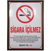 Sigara İçilmez Levhası Lamine Çerçeve 35x50