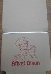 Karton Pizza Kutusu 28 Cm X 28 Cm 100 Adet
