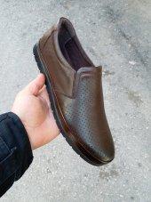 New Prato Erkek Ayakkabı 1453 Kahve Antik Lazer Deri