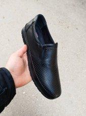 New Prato Erkek Ayakkabı 1453 Siyah Antik Lazer Deri