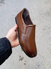 New Prato Erkek Ayakkabı 1453 Taba Antik Lazer Deri