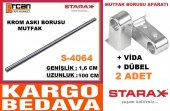 Starax 100cm Krom Paslan. Mutfak Askı Borusu...