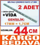 17mm X 44cm Bilyalı Çekmece Ray ,genişlik 17mm...
