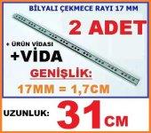 17mm X 31cm Bilyalı Çekmece Ray ,genişlik 17mm...