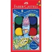 Faber Castell Küçük Hazneli Suluboya 8 Renk
