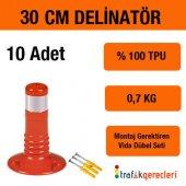 Esnek Şerit Ayırıcı Delinatör 30 Cm (10 Adet)