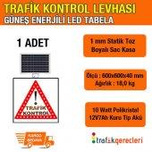 Dikkat Trafik Kontrol 600x600mm Led (1 Adet)
