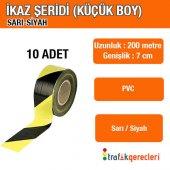 Ikaz Şeridi Küçük Boy Sarı Siyah (10 Adet)