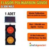 Q300 İKİLİ FLAŞÖR POLİKARBON LED (1 ADET)