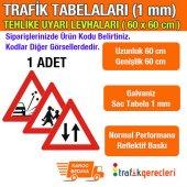 üçgen Tehlike Uyarı Levhası 1 Mm 60 Cm (1 Adet)