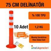 Esnek Şerit Ayırıcı Delinatör 75 Cm (10 Adet)