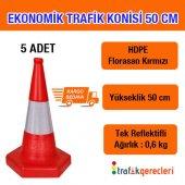 Ekonomik Trafik Konisi 50 Cm (5 Adet)