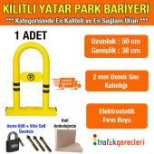 Kilitli Yatar Oto Park Bariyeri (1 Adet)