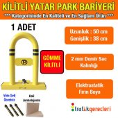Kilitli Yatar Oto Park Bariyeri (Gömme Kilitli)